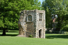 Ruined dovecote of medieval abbey Stock Images