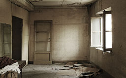 Ruined and empty home interiors Stock Photography