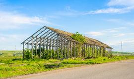Ruined farm construction royalty free stock photography