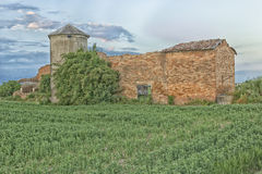 Ruined farmer homes in Italian countryside Royalty Free Stock Images