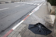 Umbrella Corpse Stock Photo