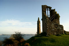 Ruined folly at Mount Edgcumbe Park in Cornwall near Plymouth Royalty Free Stock Image