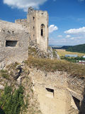 Ruined fortification and chapel of Beckov castle Stock Photo