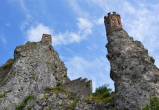 Ruined fortification of the Devin Royalty Free Stock Photo