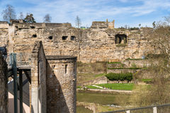 Ruined fortifications of Luxembourg Royalty Free Stock Photo