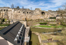 Ruined fortifications of Luxembourg Royalty Free Stock Photography