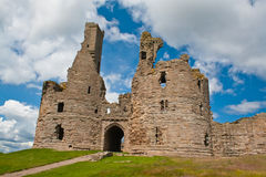 Ruined fortress - Dunstanburgh Castle Stock Photos