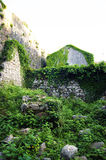 Ruined fragment in the fortress Shpanola Stock Image