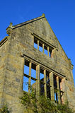 Ruined gable end of building. Royalty Free Stock Photography