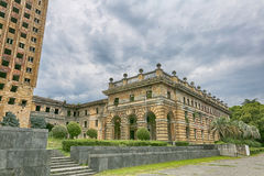Ruined Government House in Sukhumi Royalty Free Stock Photos