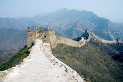 Ruined Great Wall in the Simatai Royalty Free Stock Photos