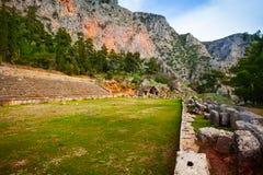 Ruined Greek stadium Royalty Free Stock Photos