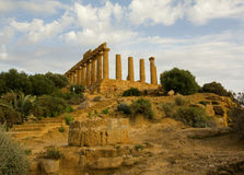 Ruined greek temple in Agrigento Stock Photography