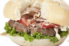 Ruined hamburger Royalty Free Stock Photography