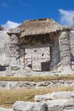 Ruins in Tulum, Mexico. Ruined historic Architecture in the pre Columbian walled city of Tulum, in the Yucutan Peninsula in the state of Quintana Roo, Mexico royalty free stock image