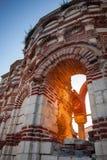 Ruined historical St. John Aliturghetos church in Nessebar Stock Photos