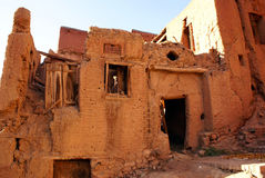 Ruined house. On the street of Abyaneh, Iran Stock Images