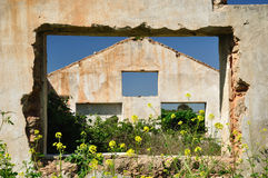 Ruined house. Royalty Free Stock Photography
