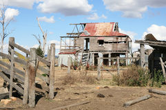 Ruined House. Old ruined settler's homestead, NSW, Australia Royalty Free Stock Photography