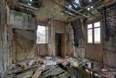 Ruined house. Abandoned and ruined house with hdr effect Royalty Free Stock Image