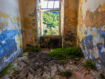 Ruined house. Abandoned and ruined military house on island Lastovo, Croatia royalty free stock photos