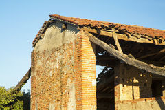 Ruined house in close up Royalty Free Stock Image