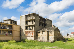 Ruined House And Construction Site, Kenya Stock Photo