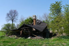 Ruined House in the Countryside. Picture of an old  collapsed house in the countryside Royalty Free Stock Photography