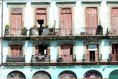 Ruined house in cuba stock photography