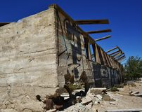 Ruined house in the desert Royalty Free Stock Photography