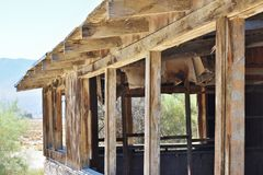 Ruined house in the desert Stock Photography