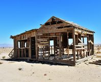 Ruined house in the desert Royalty Free Stock Image
