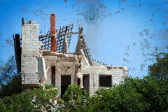 Ruined house Royalty Free Stock Images