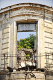 Ruined house facade Stock Photography