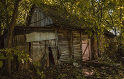 A ruined house in forest. A very old ruined house in forest Royalty Free Stock Photos