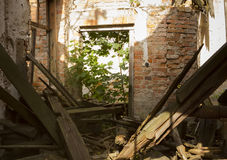 Ruined house Royalty Free Stock Photo