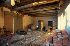 Ruined house interior Royalty Free Stock Images