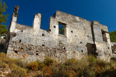 Ruined house from Kayakoy, Fethiye Royalty Free Stock Photography