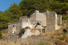 Ruined house from Kayakoy, Fethiye Stock Images