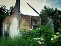 The ruined house. Is located in the town of Samokov Bulgaria Stock Photos