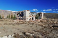 Ruined house. In the mountains Royalty Free Stock Image