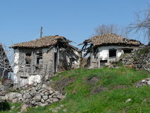 Ruined house. Old ruined house in the mountain village Royalty Free Stock Photography