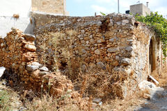 Ruined house in the old part of Malia. Stock Images