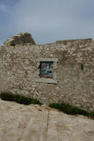 Ruined house, Quiberon, Brittany. Royalty Free Stock Photo