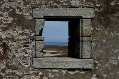 Ruined house, Quiberon, Brittany. Royalty Free Stock Image