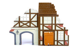 Ruined house in scale model Stock Photos