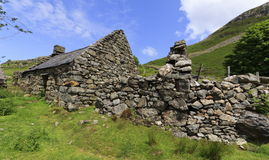Ruined House. Ruined stone house in Snowdonia Stock Image