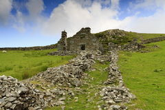 Ruined House. Ruined stone house in Snowdonia Royalty Free Stock Photo