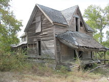 Ruined house in Texas. Ruined house in the Texas countryside Royalty Free Stock Photography