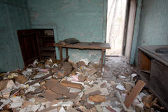 Ruined House. Trashed room in an old abandoned house Royalty Free Stock Images